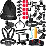 Accessories Kit for Gopro Hero 5 Black, Gopro Hero 5 Session, Gopro Hero Session, Gopro Hero 4, Gopro Hero 3, Sport Action Camera Accessory for SJCAM SJCAM SJ4000 SJ5000 SJ6000, Xiaomi Yi, AKASO, WiMiUS, Lightdow, DBPOWER, APEMAN