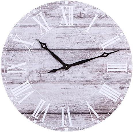 Patton Wall D cor Frameless Rustic Wood Plank Wall Clock