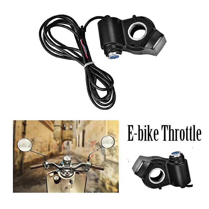 Leezo Electric Bike Throttle Grip E-bike Throttle with LCD Display Electric Scooter Electric Vehicle Power Display Handlebar Throttle Grips