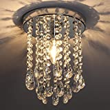 POPILION Diameter 9.8 Inch Lighting Ceiling Chandelier,Romantic Atmosphere
