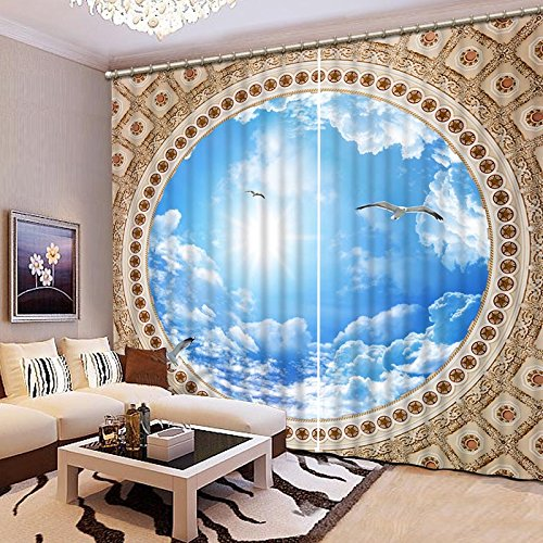 Sproud 3D Printing Curtains Lifelike Magical Mirror World Curtains Bedroom Living Room Curtains 240Dropx200Wide(Cm) 2 pieces by Sproud