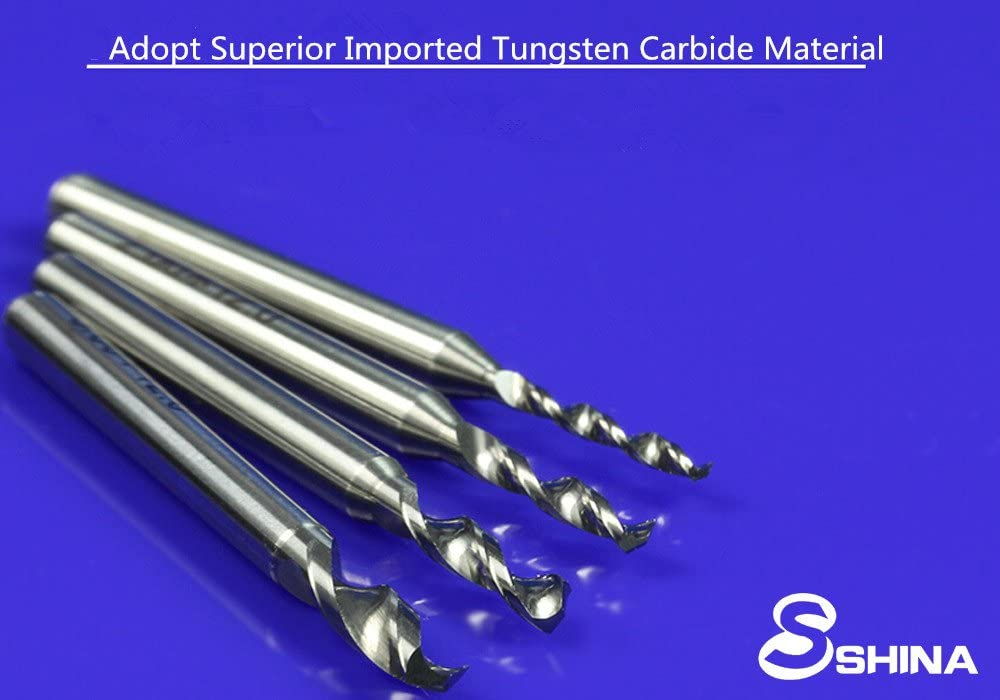 ZT2.1-3.0 SHINA 10Pcs Tungsten Carbide Circuit Board PCB Board Carving Tool CNC Engraving Micro Drill Bits