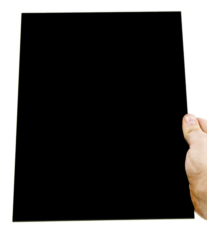 3mm XT Acryl-Zuschnitt//Plexiglas-Platte schwarz 20 x 20 cm