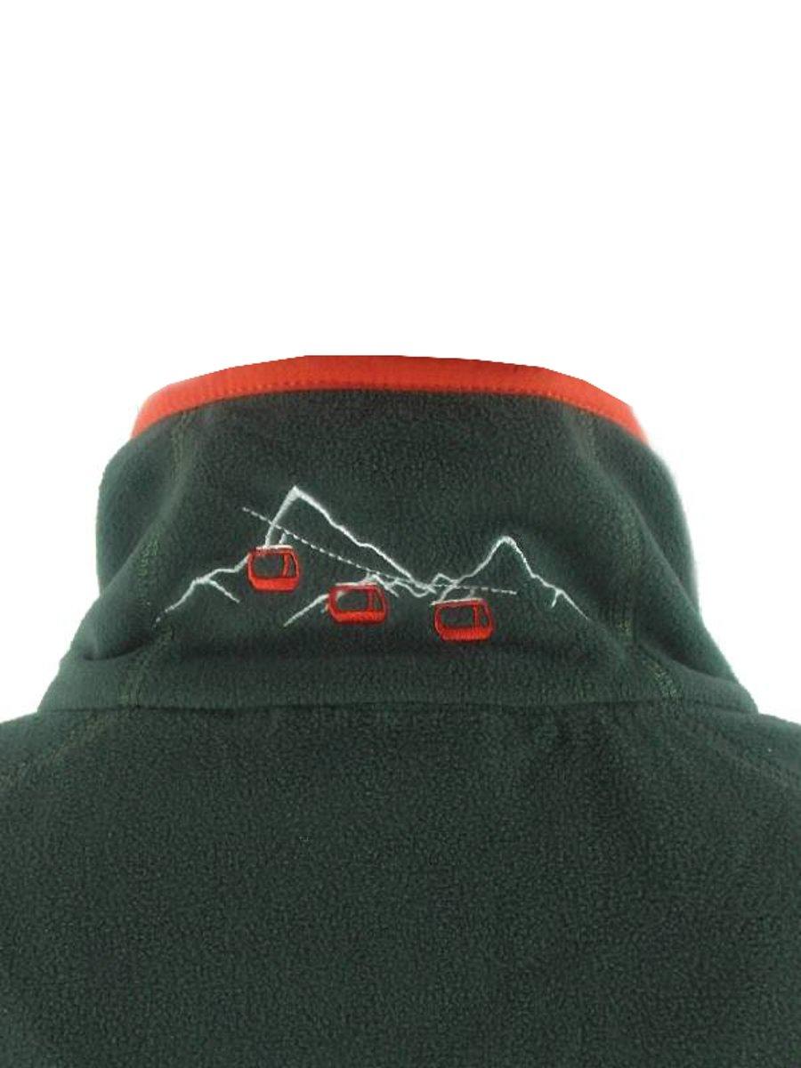 Idealer Pulverschnee Antonia Fleecepullover Skifleece mit Half Zipper in grau