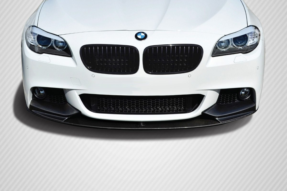 1 Piece Carbon Creations Replacement for 2011-2016 BMW 5 Series F10 M Performance Look Front Lip Splitter will only fit M Sport Bumpers