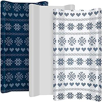 "TILLYOU Jersey Knit Altering Pad Covers 170 GSM – Thicker Softer Diaper Change Desk Sheets for Child Women Boys – Match 32″/34"" x 16″ Pad- Snug Cozy Cradle Sheets, 3 Pack Snow World"