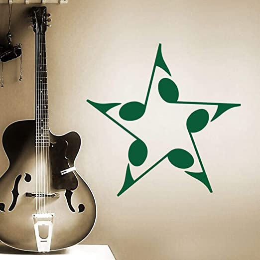 ganlanshu Diseño de Arte Decoración del hogar Pentagrama Nota ...
