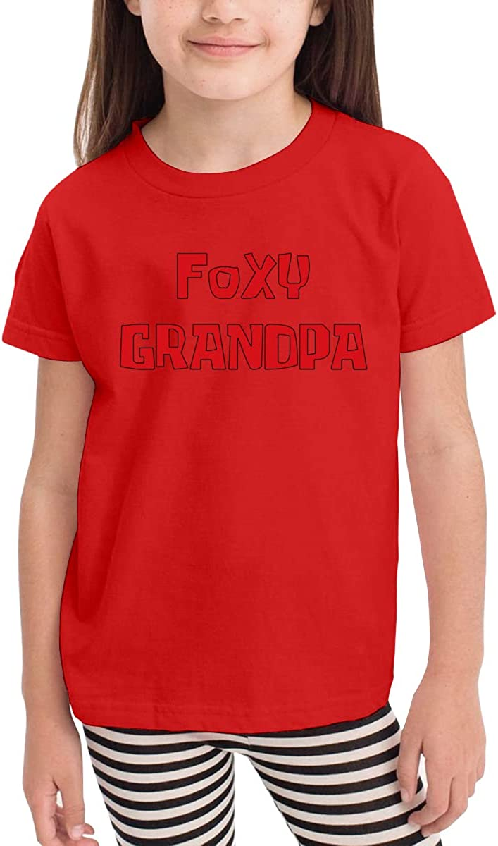 Foxy Grandpa Unisex Youths Short Sleeve T-Shirt Kids T-Shirt Tops Black