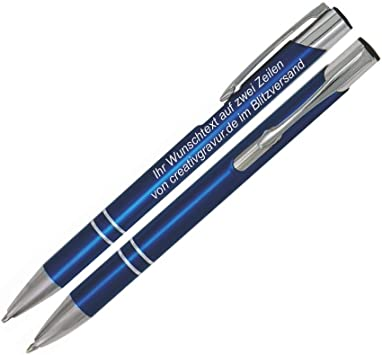 hochwertiger Druckkugelschreiber aus Metall mit Gravur