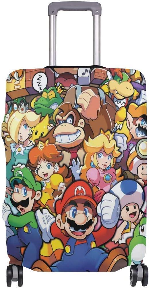 The Legend of Zelda Mario Smash Bros Funda de Equipaje de Viaje Protector de Maleta Fundas de Equipaje Lavables