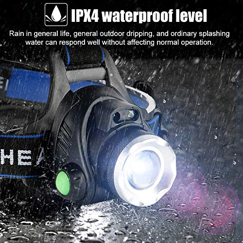 Headlamp Flashlight, USB Rechargeable Led Head Lamp, IPX4 Waterproof T004 Headlight with 4 Modes and Adjustable Headband, Perfect for Camping, Hiking, Outdoors, Hunting … (1)