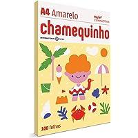 Chamequinho 03071740169, Papel Amarelo A4-210 x 297mm, Pacote com 100 Folhas