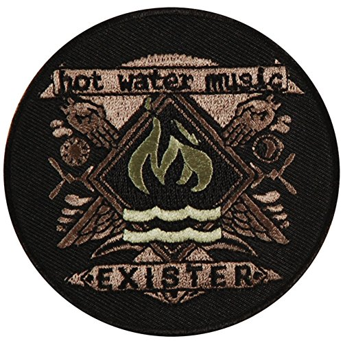 Hot Water Music Men's Exister Embroidered Patch - Hot Music Water Exister