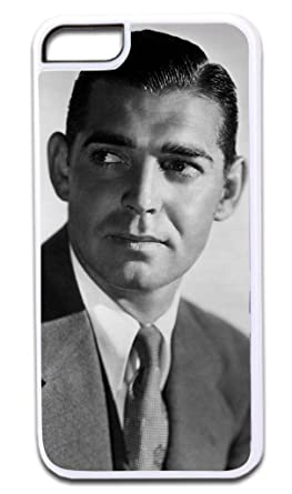 amazon com clark gable hard white plastic case with tough soft rh amazon com