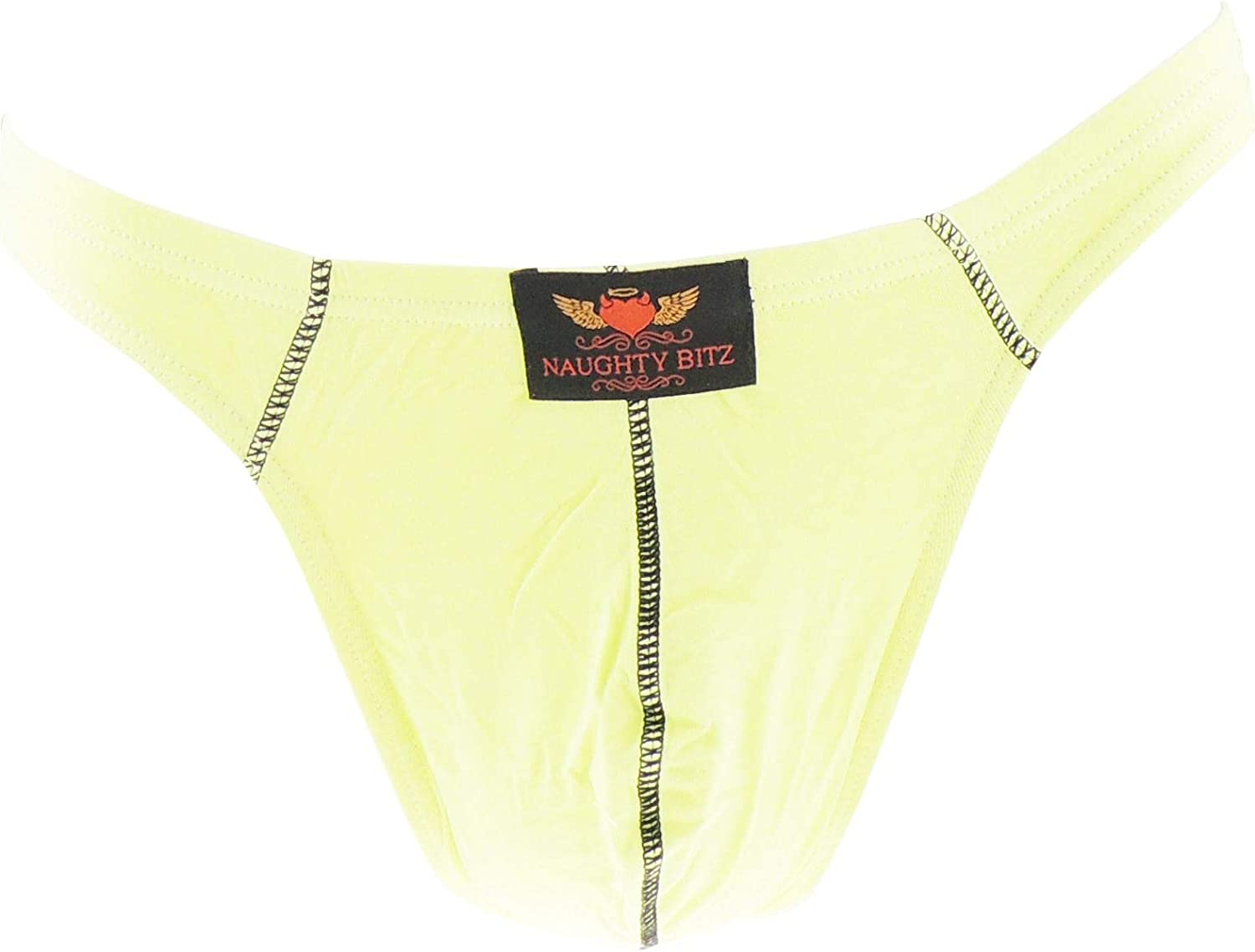 Naughty Bitz Bright Tight Cotton Underwear Mens Thong in 7 Colours