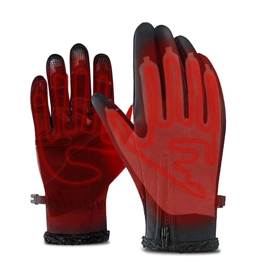 Almohadillas t/érmicas el/éctricas interruptor de termostato de tres velocidades Hoja de calentamiento de guantes Guantes de cinco dedos Almohadillas el/éctricas de calentamiento USB para esqu/í al aire