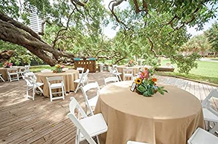 Beau 120 Inch Round Burlap Tablecloth 120u0026quot; Natural Burlap Table Cover  Wedding Party Catering