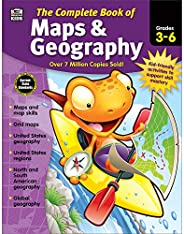 Carson Dellosa Complete Book of Maps and Geography Workbook for Kids—Grades 3-6 Map Types, Global Geography, U