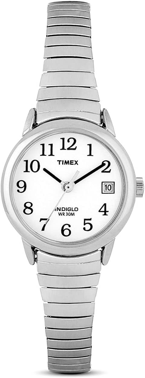 Timex - Reloj de Cuarzo para Mujer, Correa de Acero Inoxidable