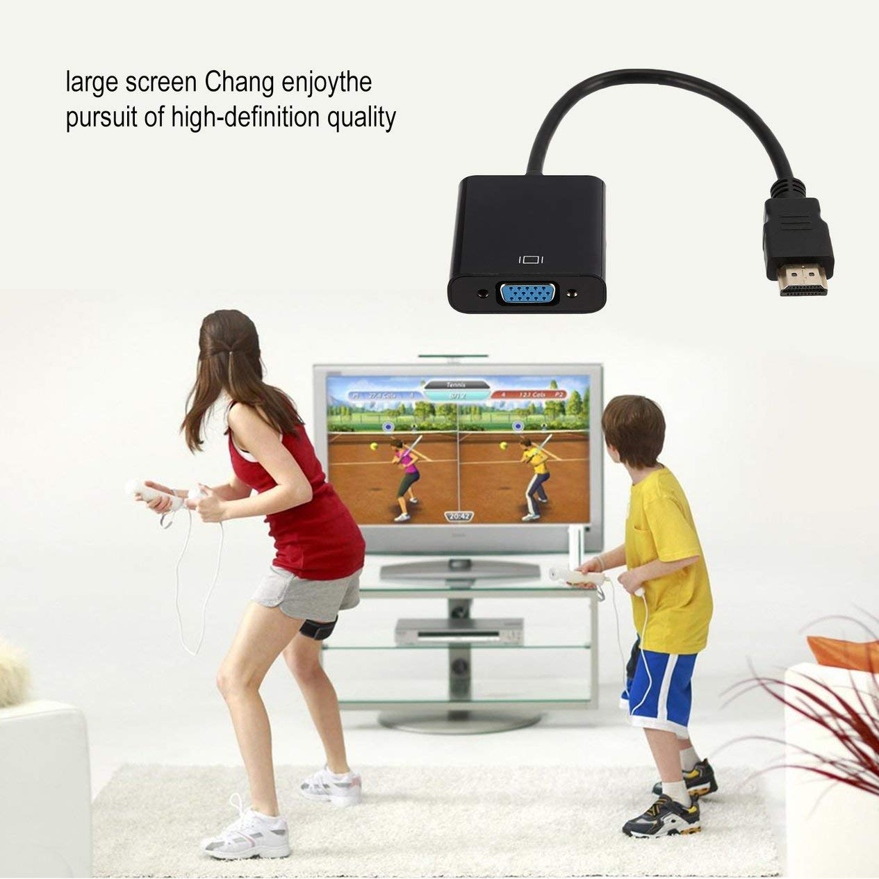 Mini Micro Connector for PC HDTV Display Projector 1080P 3in1 for HDMI to VGA Cable Converter Adapter Audio