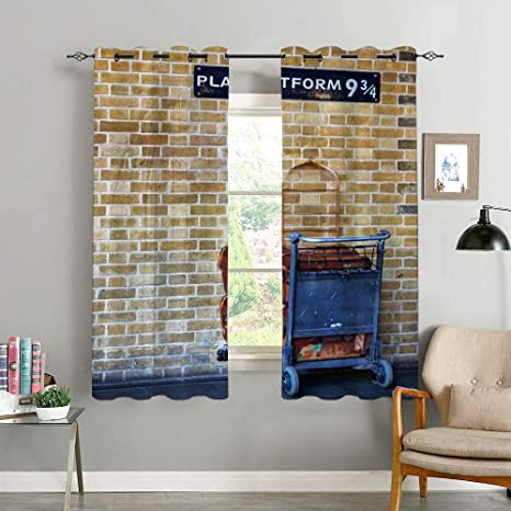 Refine Blackout Curtain Harry Potter Platform Nine And Three Quarters And Trolley Living Room Bedroom Curtain Family Life Decoration Amazon De Kuche Haushalt