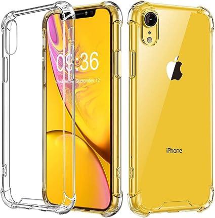 "Babacom Funda para iPhone XR, Transparente Carcasa para iPhone XR Absorcion de Choque Cojín de Esquina Parachoques con PC Duro Panel Posterior + Marco de TPU Compatible con iPhone XR 6.1"" 2018:"