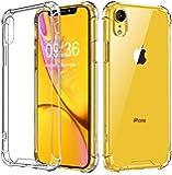 Babacom Cover iPhone XR, [Cristallo Trasparente] Custodia Shock-Absorption Corner Cushion Bumper con Pannello Posteriore in Hard PC + Cornice in TPU Rinforzato per iPhone XR 6,1 Pollici (2018)