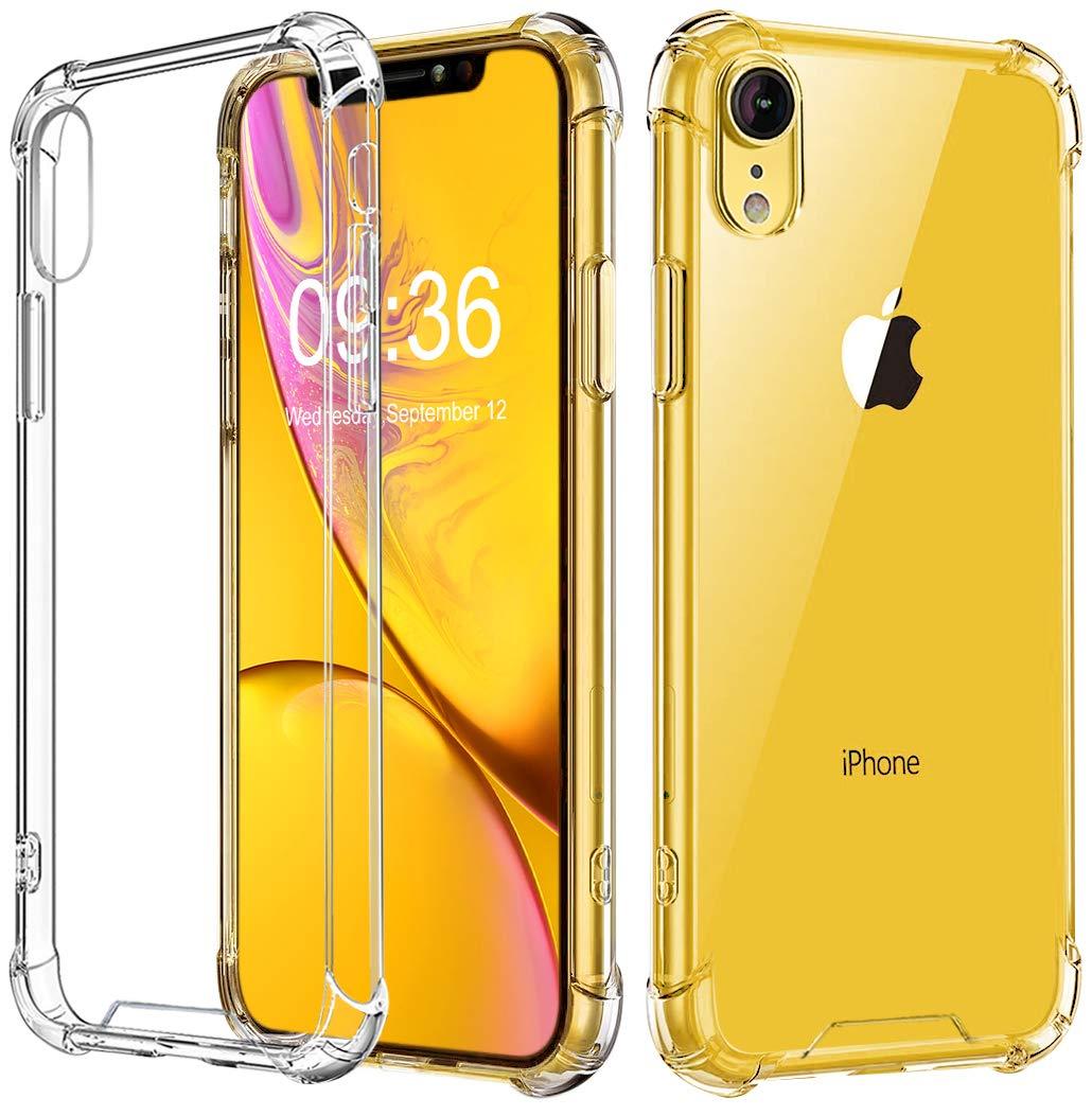 "Vproof Funda iPhone XR, Transparente Carcasa iPhone XR Absorcion de Choque Cojín de Esquina Parachoques con PC Duro Panel Posterior + Marco Reforzado de TPU Suave Compatible para iPhone XR 6.1"" 2018 Babacom Case for 6.1"