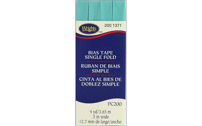 Wrights Aquamarine II Single Fold Bias Tape 1//2 X4yd
