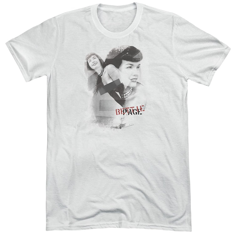 Bettie Page Men's Transparent Bands Tri-Blend T-Shirt