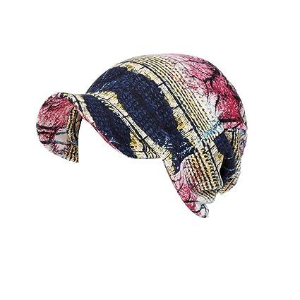 Wonder Woman w Logo Cancer Hat Alopecia Hair Cover Pre-Tied Scarf Scrub Hat
