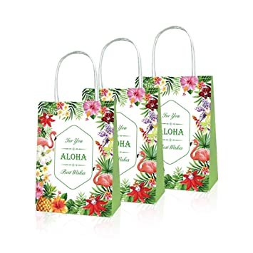 Howaf 6 Pack Tropical Bolsas Regalo Papel con Asa para Niños ...