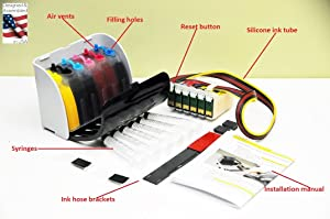 INKXPRO Brand XPRO V Series True Color Sublimation Ink Continuous Ink Supply System CISS for Artisan 1430, 1400 Printers (Designed & Assembled in The USA, E1430S)
