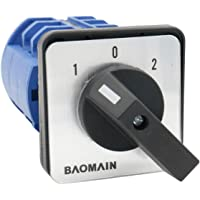 Baomain Universal Rotary Changeover Switch SZW26-63 660V 63A 3 Position 3 Phase