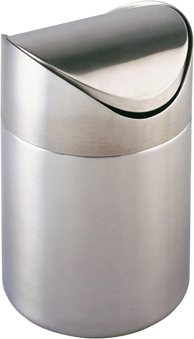 Nero 17 x 25 x 22,5 cm Acciaio Inox antiruggine capacit/à 3 l Wenko Leman Pattumiera con Impronte digitali