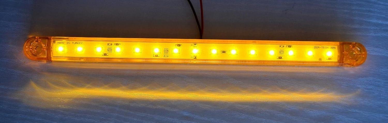10/x Long LED 12/V 24/V Orange//ambre c/ôt/é Outline Feux de gabarit socle basculant pour ch/âssis de camion remorque caravane van Bus