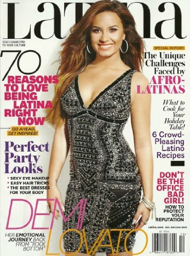 Latina Magazine December 2011/January 2012 Demi Lovato - Perfect Party Looks