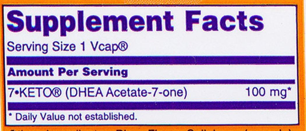 Amazon.com: Ahora® Alimentos 7-keto 100 mg W/30 Vcaps ...