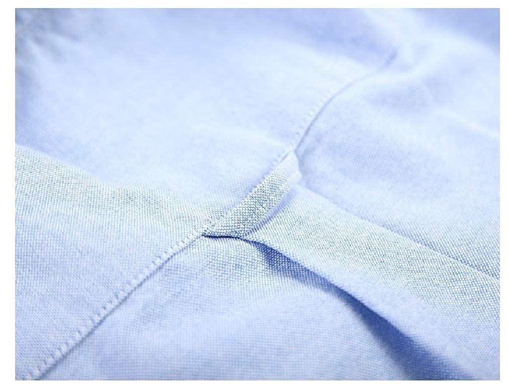 HEFASDM Men Cozy Summer Single Breasted Short-Sleeve Non-Iron Dress Shirt