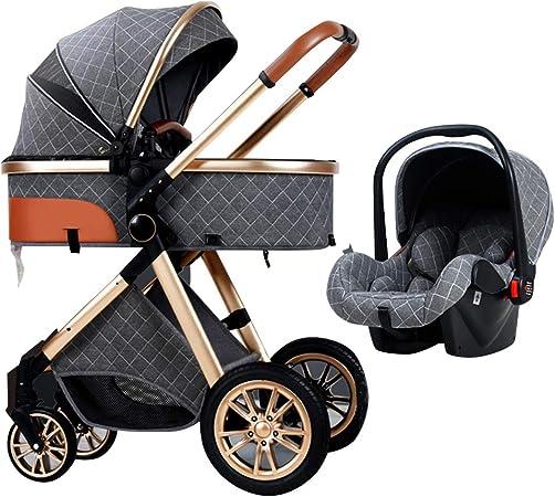 Opinión sobre Cochecito ligero, cuna móvil, asiento de seguridad para niños, estructura de aluminio, cochecito plegable con una sola mano, ruedas amortiguadoras para todoterreno, gran cesta de la compra.