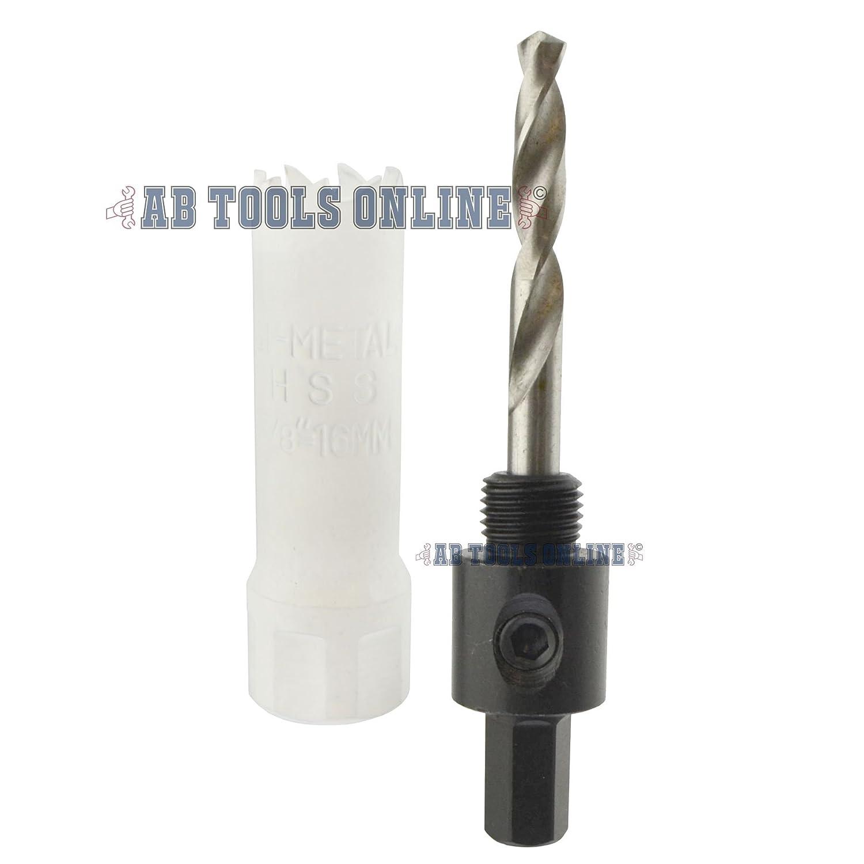 16mm orificio HSS vio sierras de corona de hojas bimet/álicas Cuchilla Taladro y broca Arbor adaptador