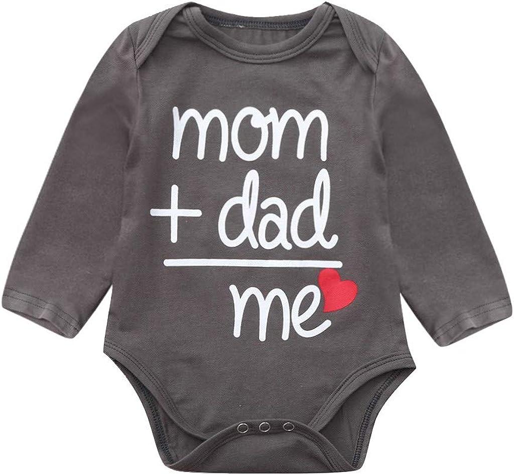 """Elsta Neugeborenes Jungen M/ädchen Baby Kleidung /""""mom+dad is me Print Outfits Kleinkind T/äglichen Spielanzug Strampler Playsuit Jumpsuit Babystrampler Babykleidung f/ür 3-24 Monate"""
