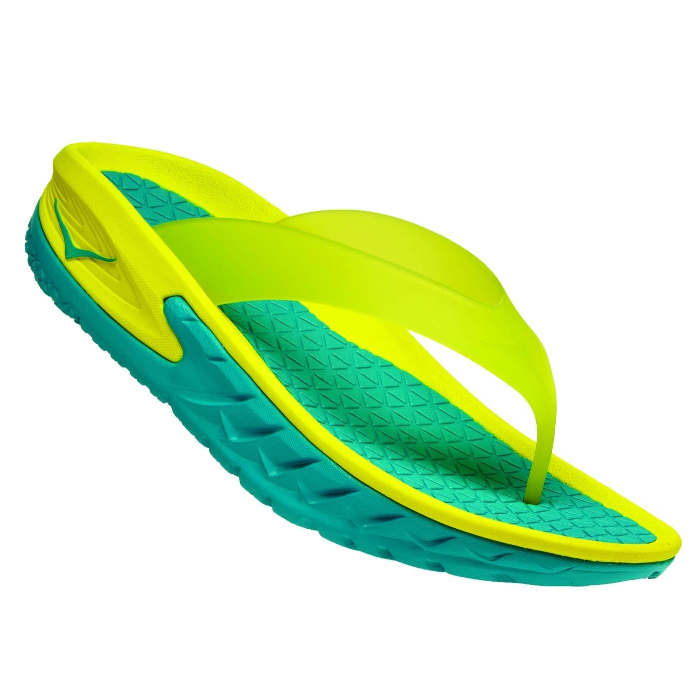 Hoka One One Ora Recovery Flip Sandals Men Caribbean sea PrimRosa 2018 Hausschuhe