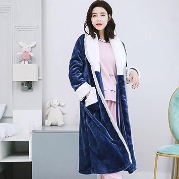 Tres conjuntos de pijamas de lana de coral mujeres invierno franela gruesa además de batas largas