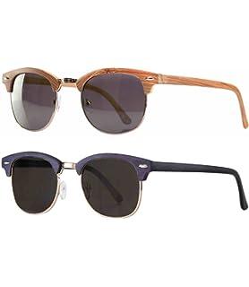 Vintage Sonnenbrille im angesagten 60er retro Browline-Style mit markantem Halbrahmen in Hornoptik, auch für schmalere Gesichter, Verlaufglas (schwarz matt/grau)