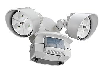Lithonia Lighting OFLR 6LC 120 MO WH LED Outdoor Floodlight 2 Light Motion  Sensor,