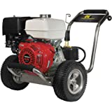 BE Pressure PE-4013HWPSCOMZ Gas Powered Pressure Washer, GX390, 4000PSI, 4 GPM