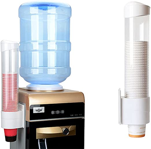 Paper Cup Dispenser 7.5cm 50 Cups Disposable Cup Holder Wall Mounted Water Cup Dispenser for Plastic Cups and Biodegradable Paper Cones