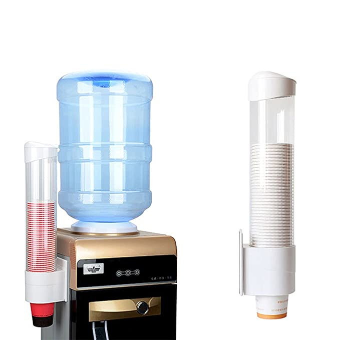 Amazon.com: Samhe Cup Dispenser Water Dispenser Cup Holder Pull Type Paper Automatic Remover Fits Flat Bottom Cups for Home Office Hospital etc.