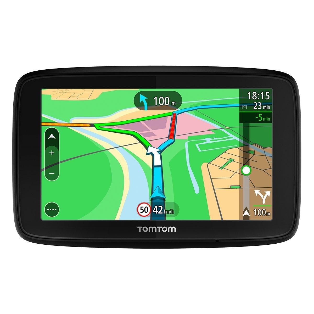 """TomTom VIA 53 - GPS Navegació n con pantalla tá ctil de 5"""" , mapa de 48 paí ses, planifica rutas inteligentes que te ayudan a escapar del trá fico en tiempo real, color negro mapa de 48 países TomTom Spain 1AL5.002.03"""